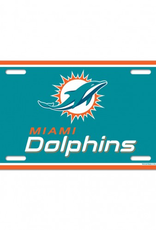WINCRAFT Miami Dolphins Plastic License Plate