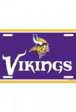 WINCRAFT Minnesota Vikings Plastic License Plate