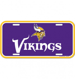 WINCRAFT Minnesota Vikings Plastic License Plate