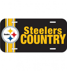 WINCRAFT Pittsburgh Steelers Plastic License Plate