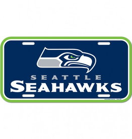 WINCRAFT Seattle Seahawks Plastic License Plate