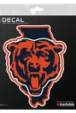 "WINCRAFT Chicago Bears 4"" x 4"" State Shaped Perfect Cut Decals"