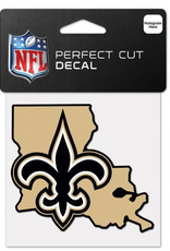 """WINCRAFT New Orleans Saints 4"""" x 4"""" State Shaped Perfect Cut Decals"""