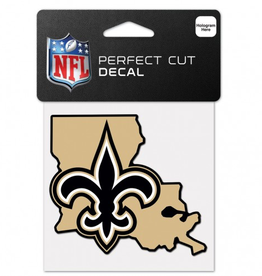 "WINCRAFT New Orleans Saints 4"" x 4"" State Shaped Perfect Cut Decals"
