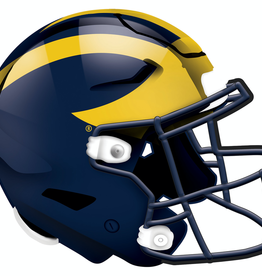 FAN CREATIONS University of Michigan Wolverines 12in Wood Helmet Sign
