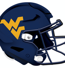 FAN CREATIONS West Virginia Mountaineers 12in Wood Helmet Sign