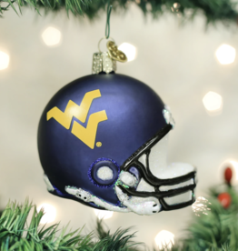 OLD WORLD CHRISTMAS West Virginia Mountaineers Helmet Ornament