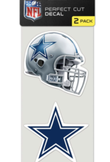 Dallas Cowboys Set of Two 4x4 Perfect Cut Decals