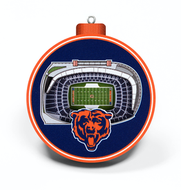 YOU THE FAN Chicago Bears 3-D StadiumView Ornaments