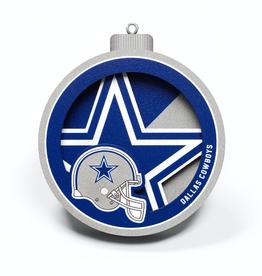 YOU THE FAN Dallas Cowboys 3-D Logo Ornaments