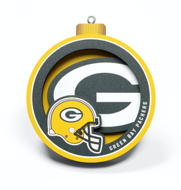 YOU THE FAN Green Bay Packers 3-D Logo Ornaments