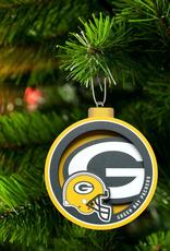 YOU THE FAN Green Bay Packers 3-D Logo Ornaments