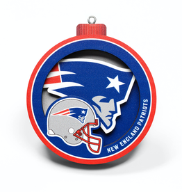 YOU THE FAN New England Patriots 3-D Logo Ornaments