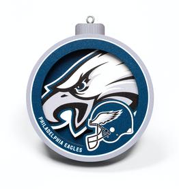 YOU THE FAN Philadelphia Eagles 3-D Logo Ornaments