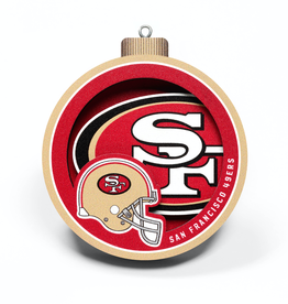 YOU THE FAN San Francisco 49ers 3-D Logo Ornaments