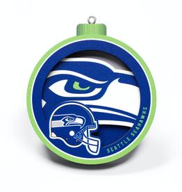 YOU THE FAN Seattle Seahawks 3-D Logo Ornaments