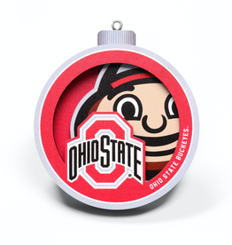 YOU THE FAN Ohio State Buckeyes 3-D Logo Ornaments