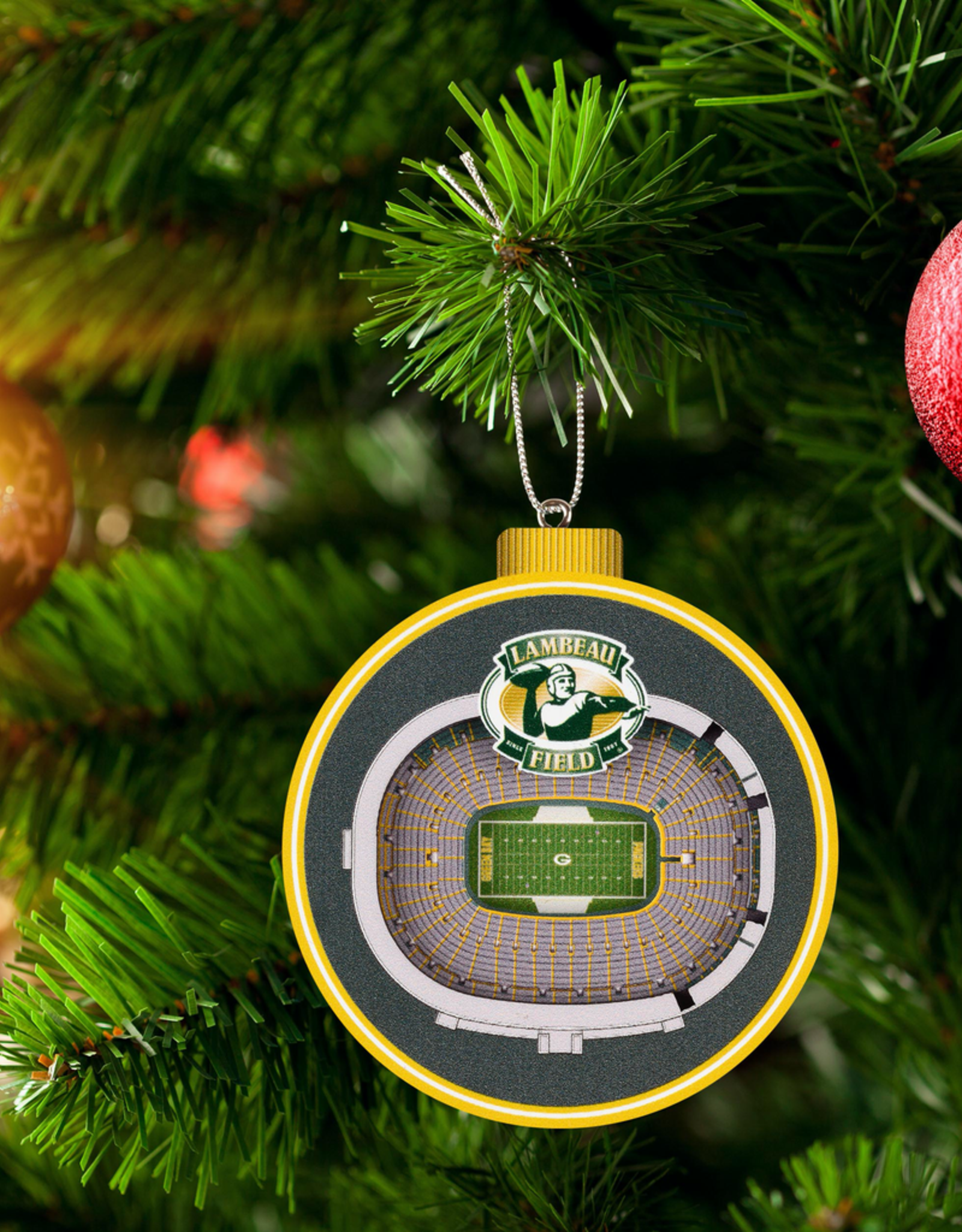 YOU THE FAN Green Bay Packers 3-D StadiumView Ornaments