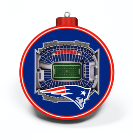 YOU THE FAN New England Patriots 3-D StadiumView Ornaments