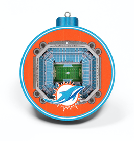 YOU THE FAN Miami Dolphins 3-D StadiumView Ornaments