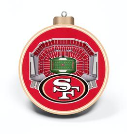 YOU THE FAN San Francisco 49ers 3-D StadiumView Ornaments