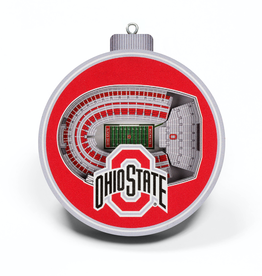 YOU THE FAN Ohio State Buckeyes 3-D StadiumView Ornaments