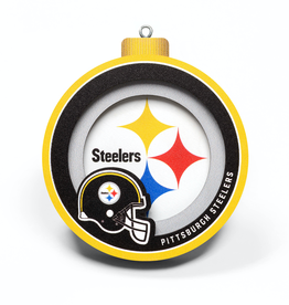 YOU THE FAN Pittsburgh Steelers 3-D Logo Ornaments