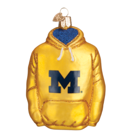 OLD WORLD CHRISTMAS Michigan Wolverines Hoodie Ornament