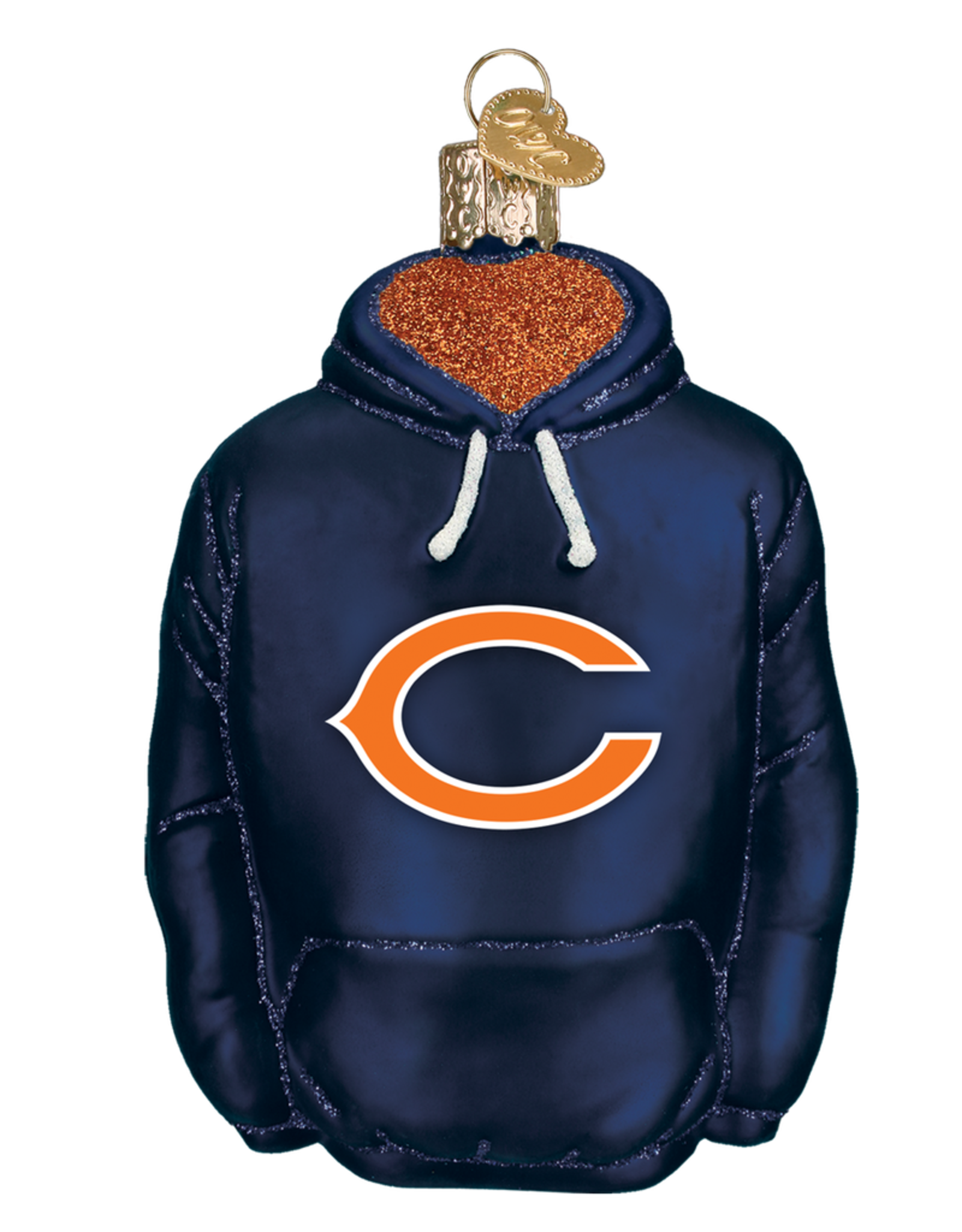 OLD WORLD CHRISTMAS Chicago Bears Hoodie Ornament