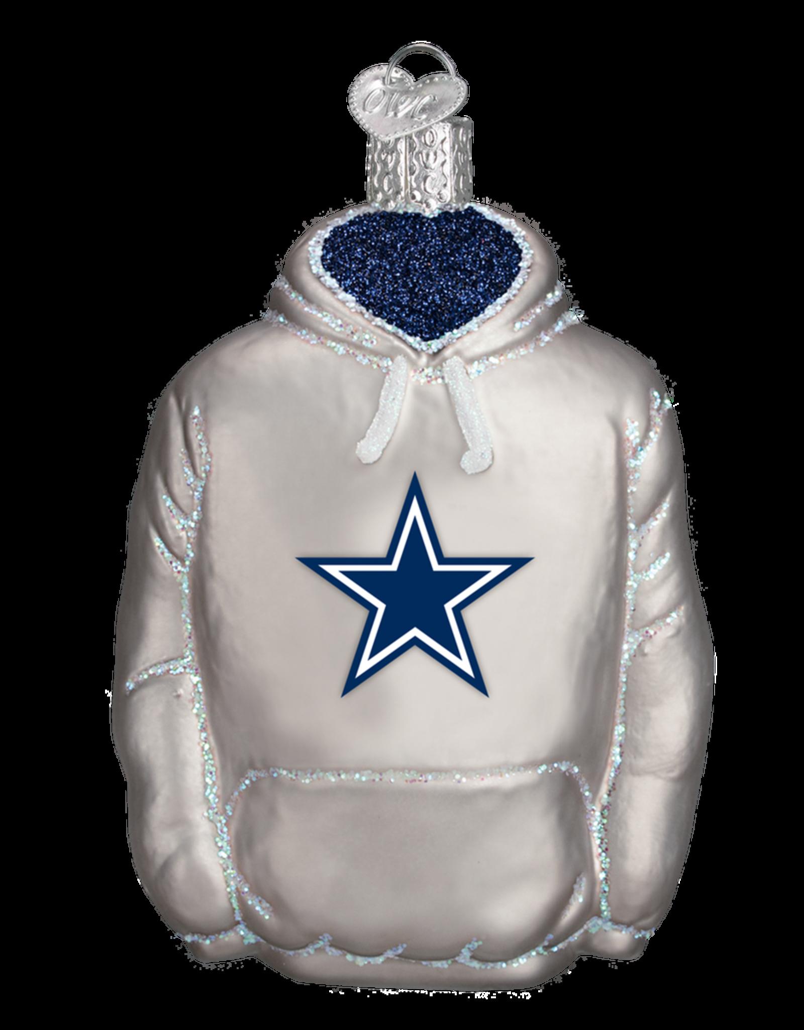 OLD WORLD CHRISTMAS Dallas Cowboys Hoodie Ornament