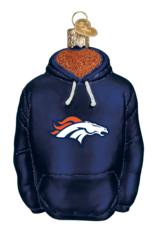 OLD WORLD CHRISTMAS Denver Broncos Hoodie Ornament