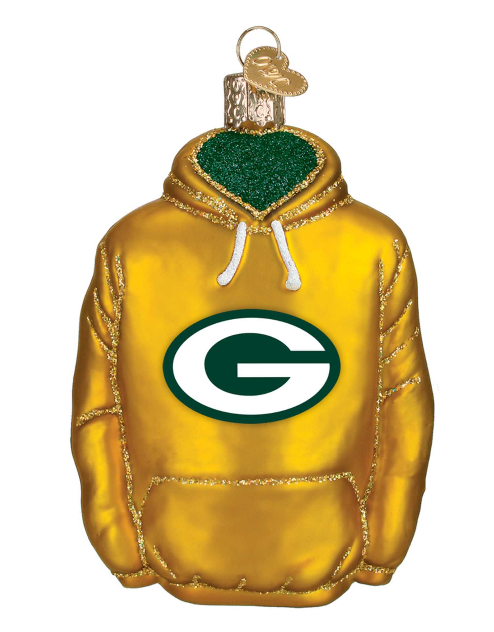 OLD WORLD CHRISTMAS Green Bay Packers Hoodie Ornament