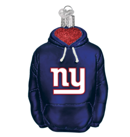 OLD WORLD CHRISTMAS New York Giants Hoodie Ornament