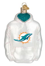 OLD WORLD CHRISTMAS Miami Dolphins Hoodie Ornament