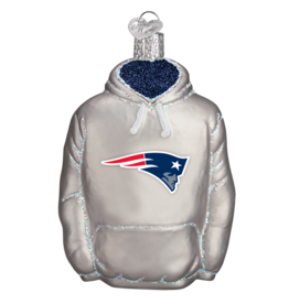 OLD WORLD CHRISTMAS New England Patriots Hoodie Ornament