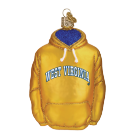 OLD WORLD CHRISTMAS West Virginia Mountaineers Hoodie Ornament