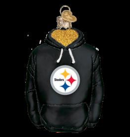 OLD WORLD CHRISTMAS Pittsburgh Steelers Hoodie Ornament