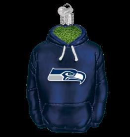 OLD WORLD CHRISTMAS Seattle Seahawks Hoodie Ornament