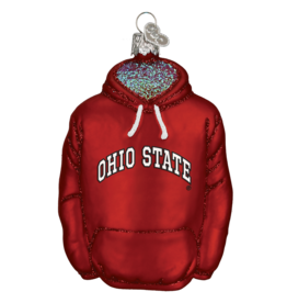 OLD WORLD CHRISTMAS Ohio State Buckeyes Hoodie Ornament