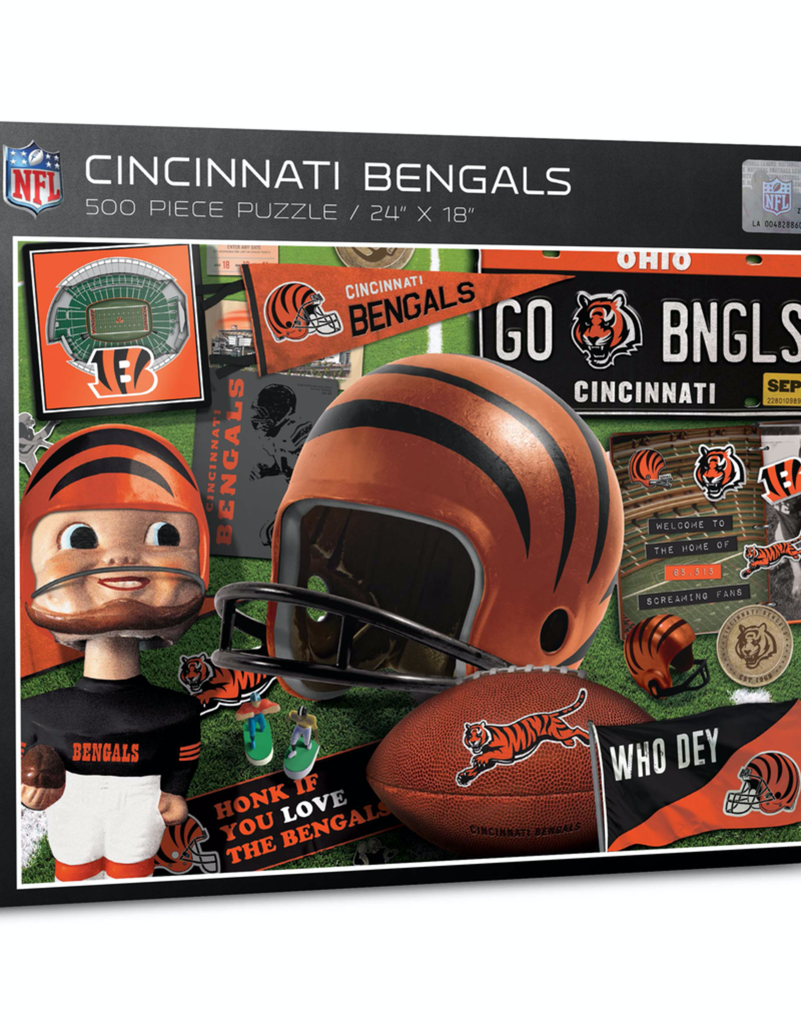 YOU THE FAN Cincinnati Bengals 500 Piece Puzzle