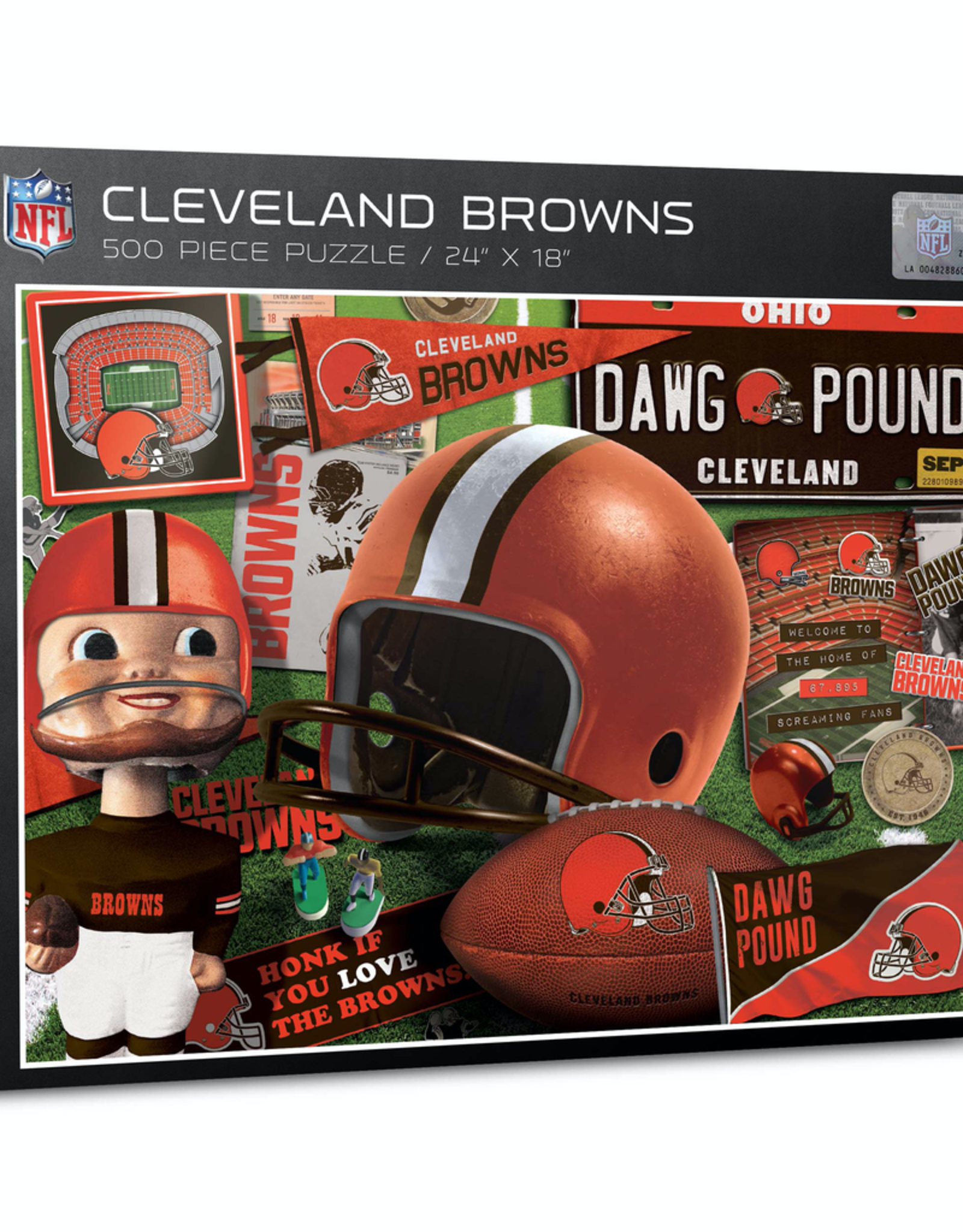 YOU THE FAN Cleveland Browns 500 Piece Puzzle