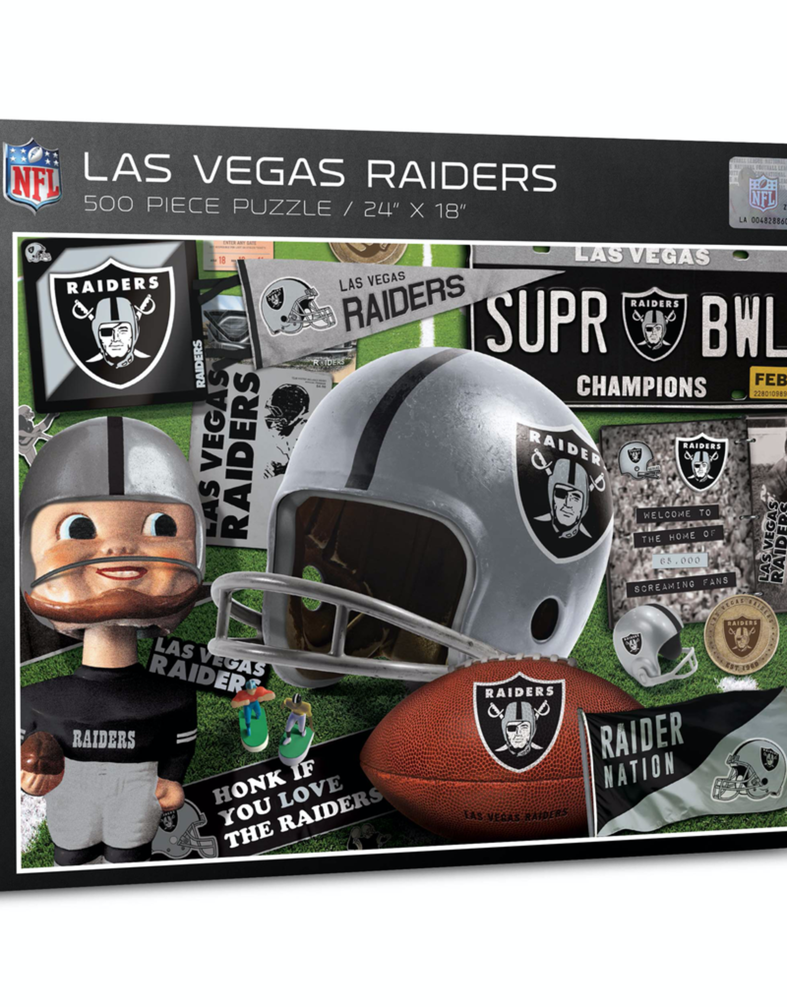YOU THE FAN Las Vegas Raiders 500 Piece Puzzle