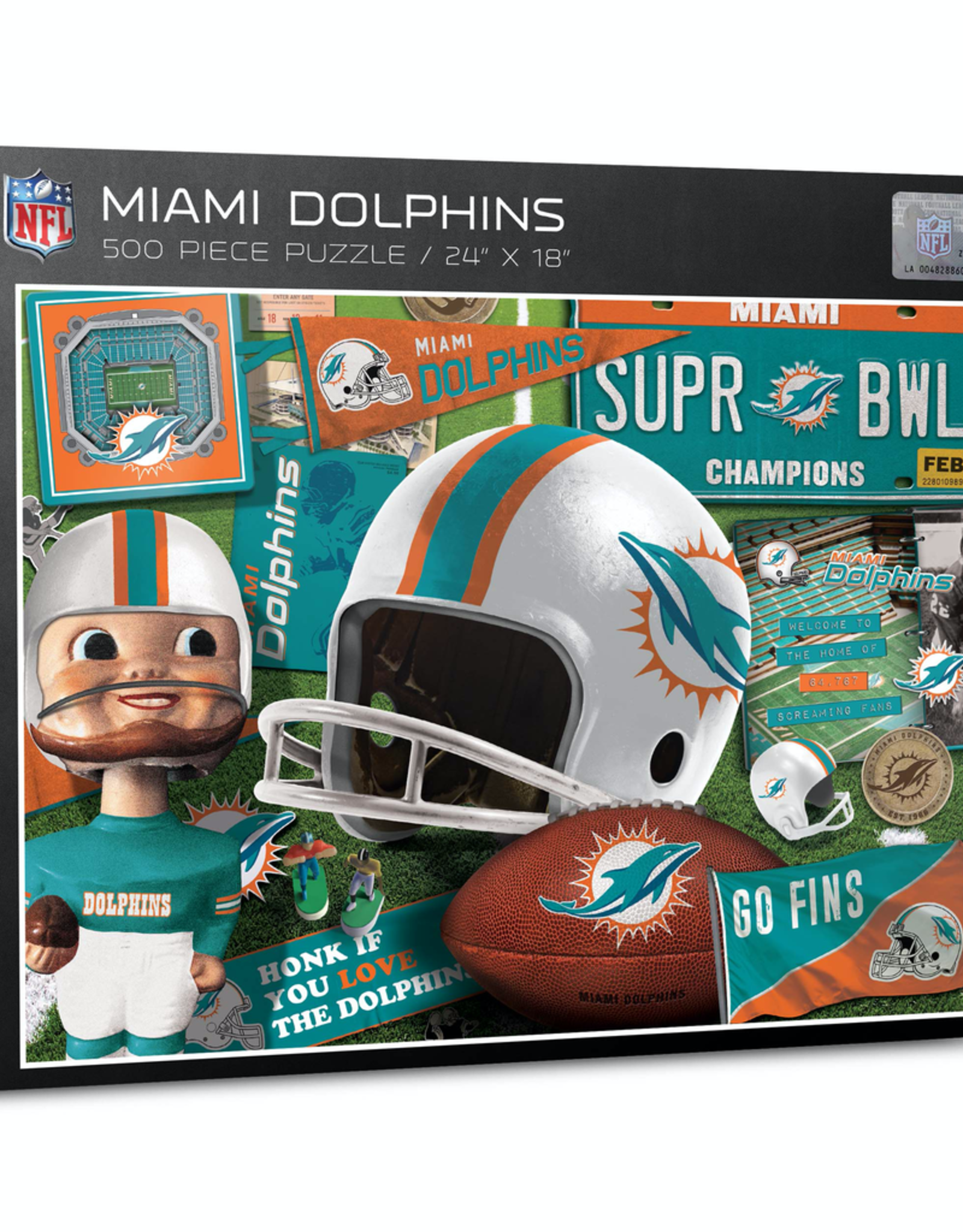 YOU THE FAN Miami Dolphins 500 Piece Puzzle