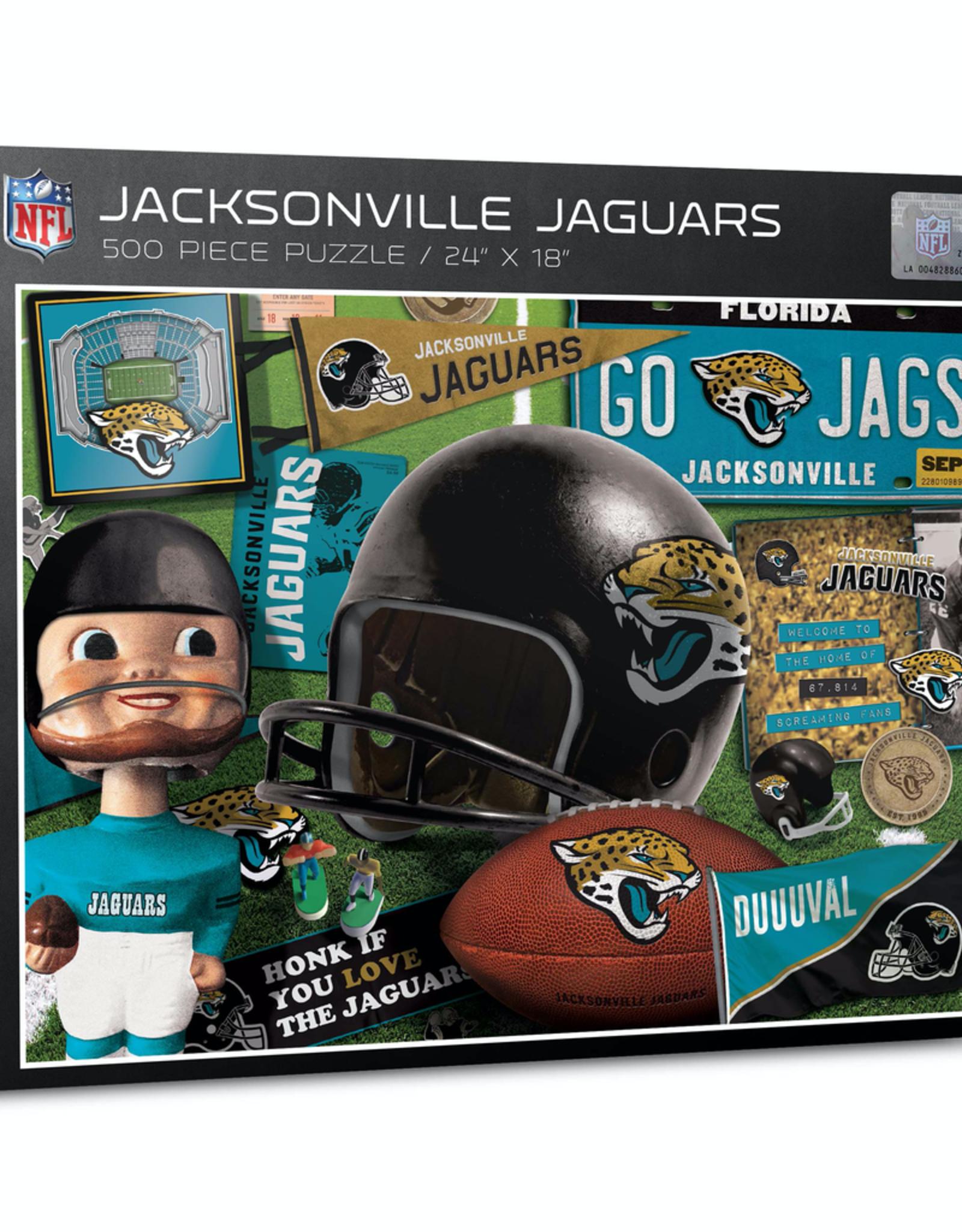 YOU THE FAN Jacksonville Jaguars 500 Piece Puzzle