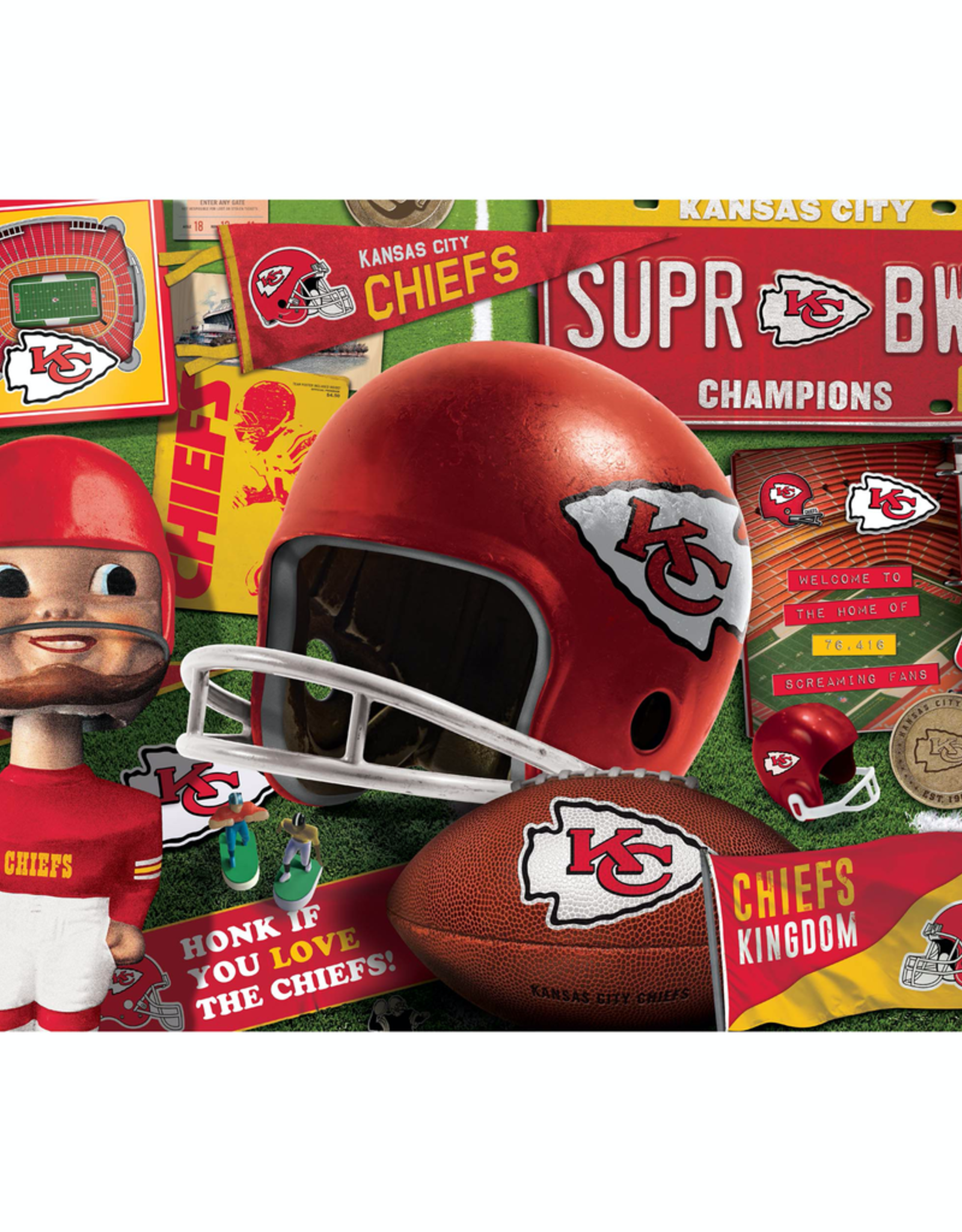 YOU THE FAN Kansas City Chiefs 500 Piece Puzzle