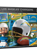 YOU THE FAN Los Angeles Chargers 500 Piece Puzzle