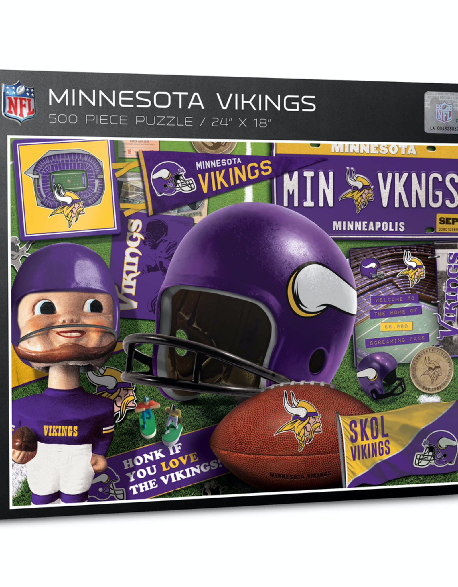 YOU THE FAN Minnesota Vikings 500 Piece Puzzle