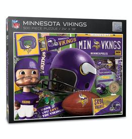 YOU THE FAN Minnesota Vikings 500 Piece Puzzle