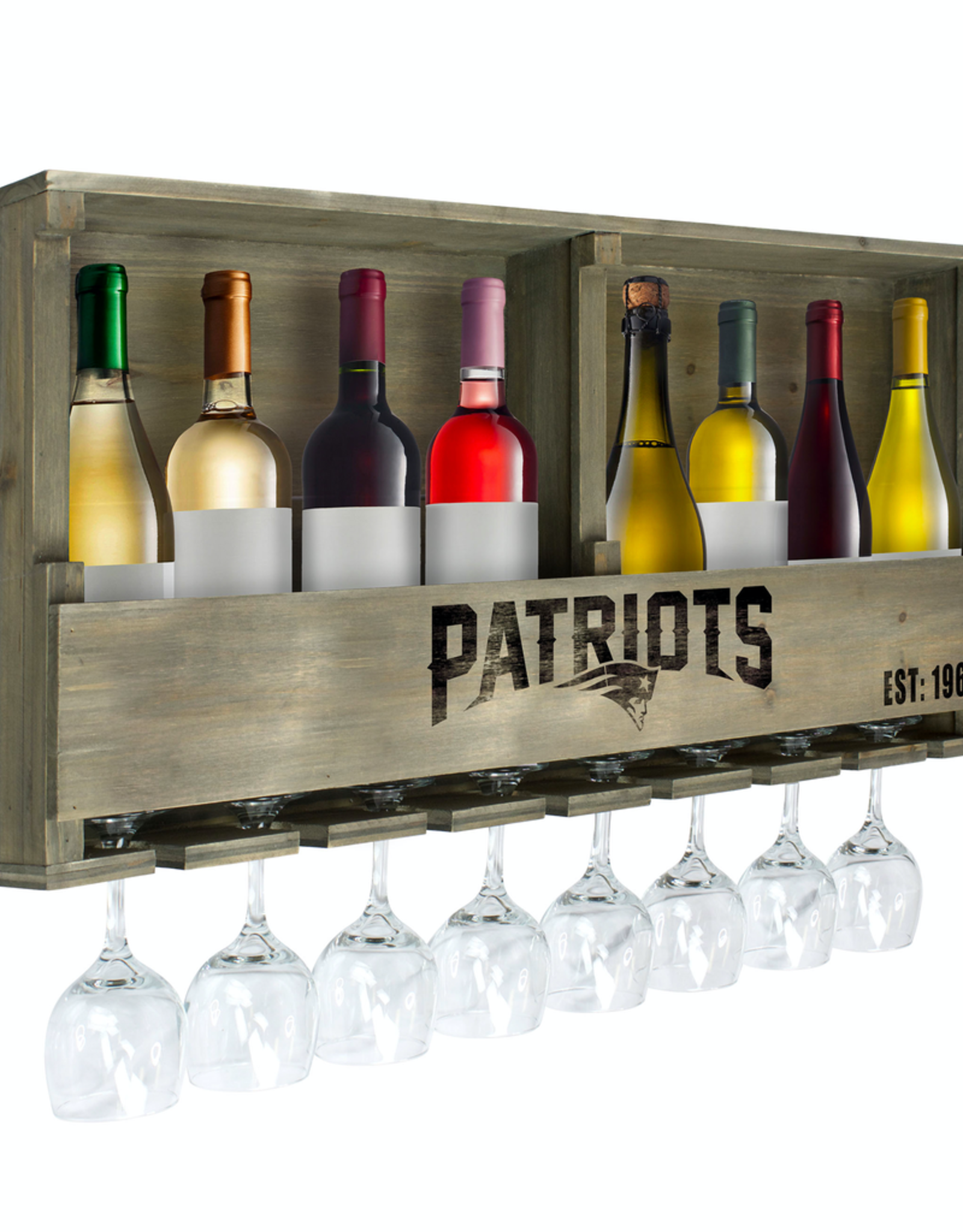 IMPERIAL New England Patriots Reclaimed Bar Rack