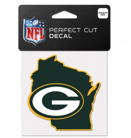 "WINCRAFT Green Bay Packers 4"" x 4"" State Shaped Perfect Cut Decals"